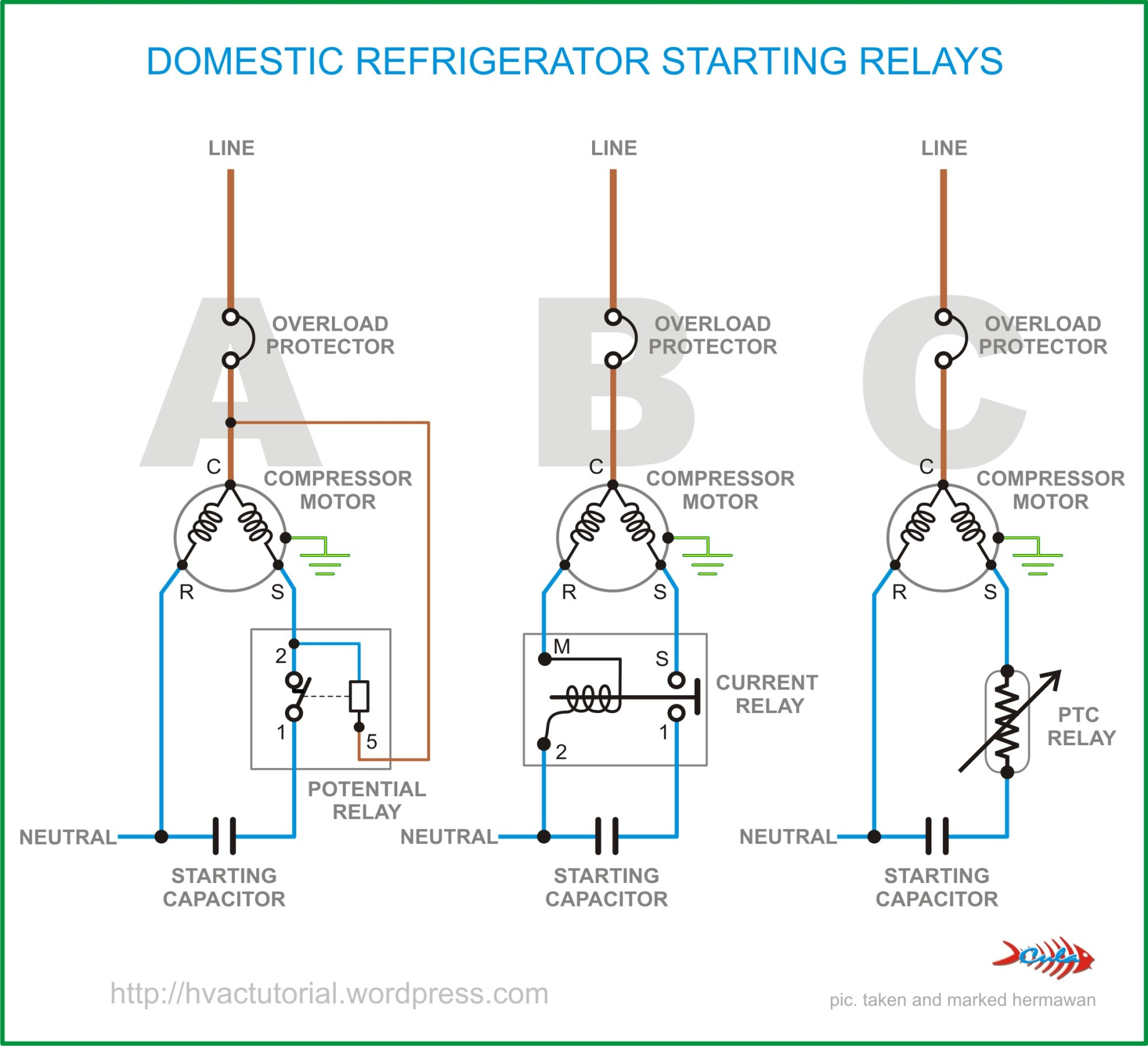 hight resolution of domestic refrigerator starting relays hermawan s blog refrigeration and air conditioning systems