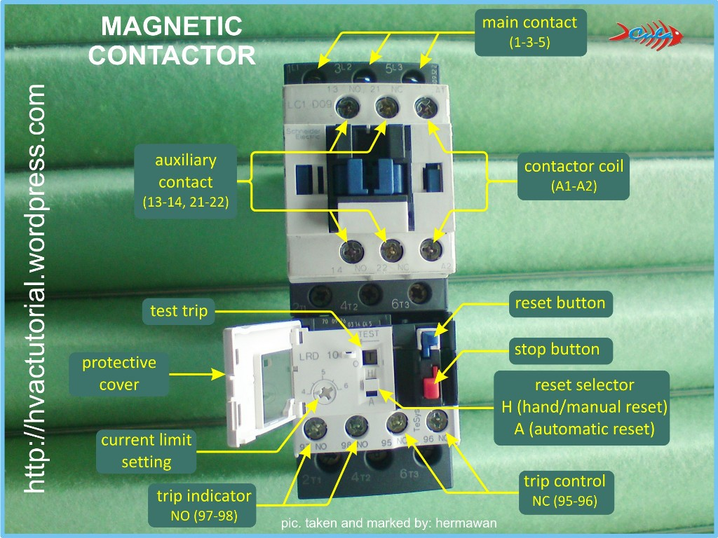 contactor and thermal overload relay wiring diagram 3 way toggle switch magnetic hermawan 39s blog refrigeration