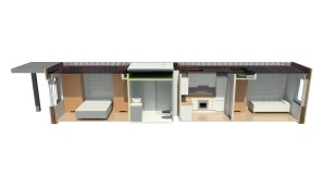 Cross-disciplinary apartment section