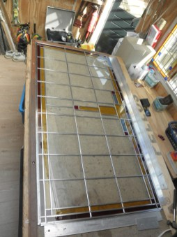 Fabricage glas in lood raam