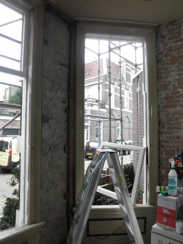 Oude ramen verwijderd