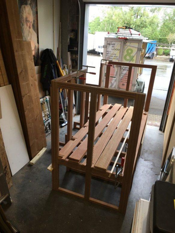Opbouw nieuwe trap