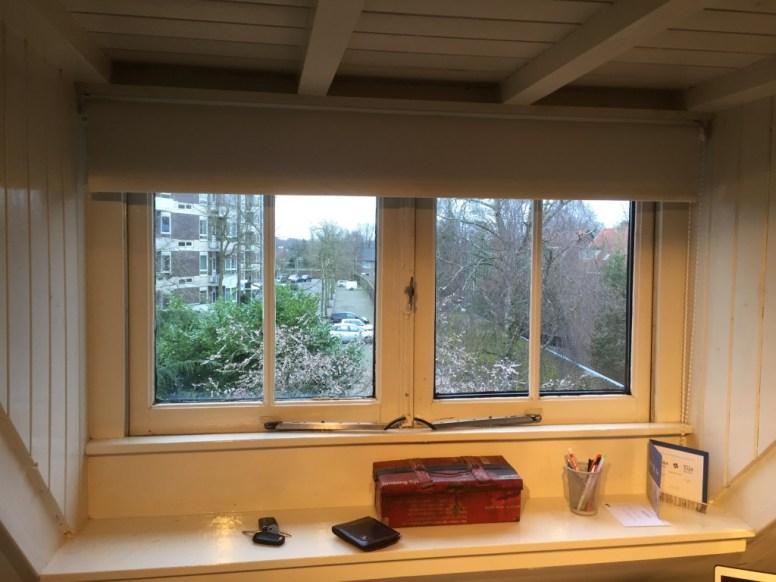 Oude stolpstel ramen