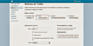 Botón de Twitter - Tutorial. (3/5)