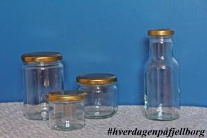 Emballasje saft sylting glass flasker