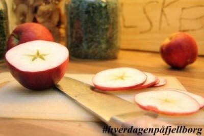 Tørkede epler fremgangsmåte