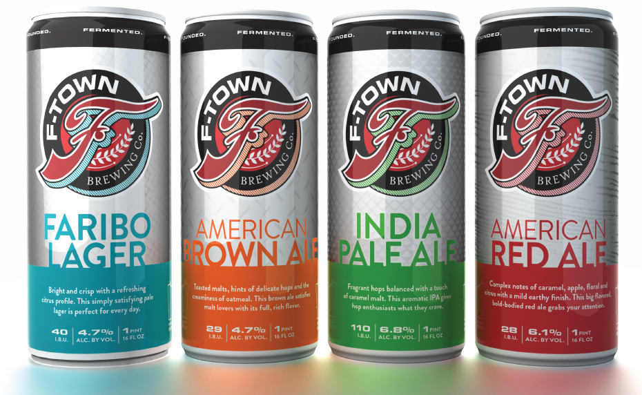 F-Town Brewing Co. Core Beer Offering