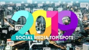 2019 social media top spots