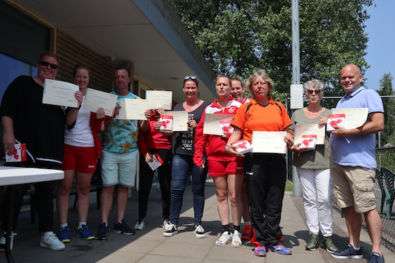 Uitreiking AED Diploma's