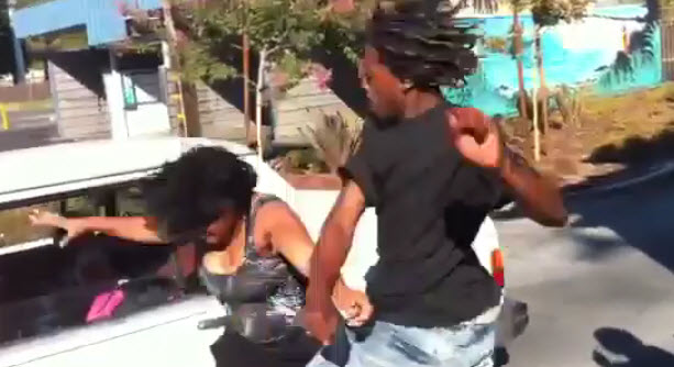 This Some Sad Shxt Man Bombs On A Chick  Crowd Is Out There Letting Him Fight A Girl She