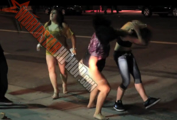 Downtown Denver Girl Fight Outside The Club Chick Went Rikishi  No Leggings  Video