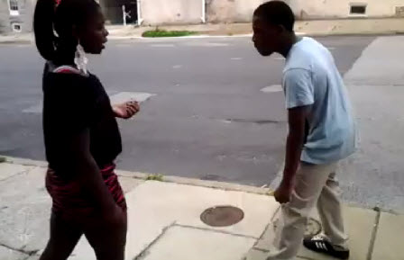 Poor Boy Why Should Never Try To Fight A Girl  Video