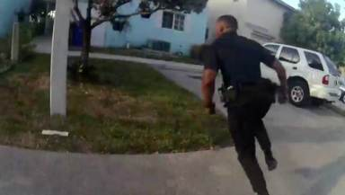 Cop Viciously Attacks Suspect After Foot Chase! | Video