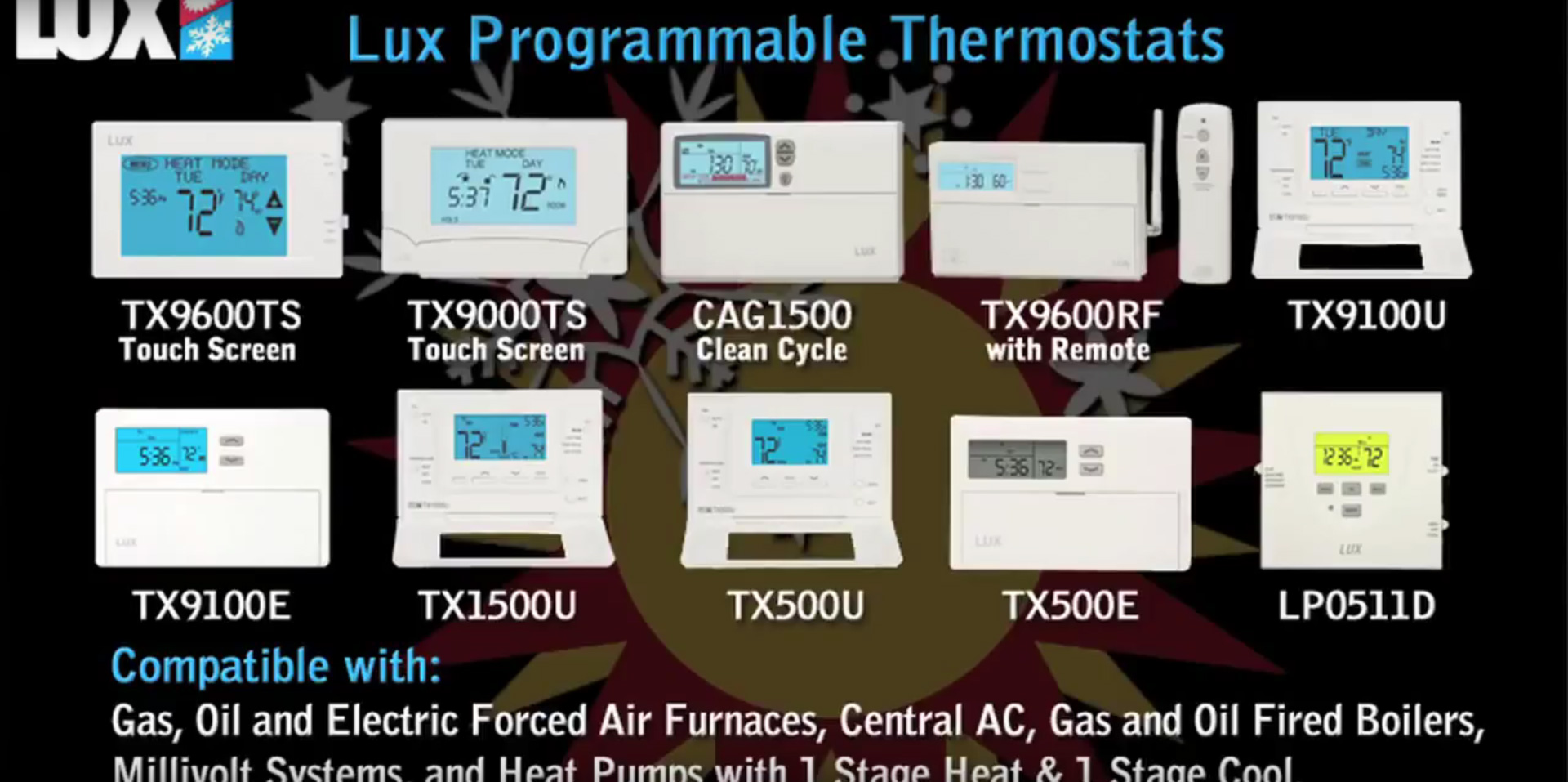 hight resolution of  luxhowtoselectaproduct lux products at menards lux thermostat tx9600ts wiring diagram at cita asia