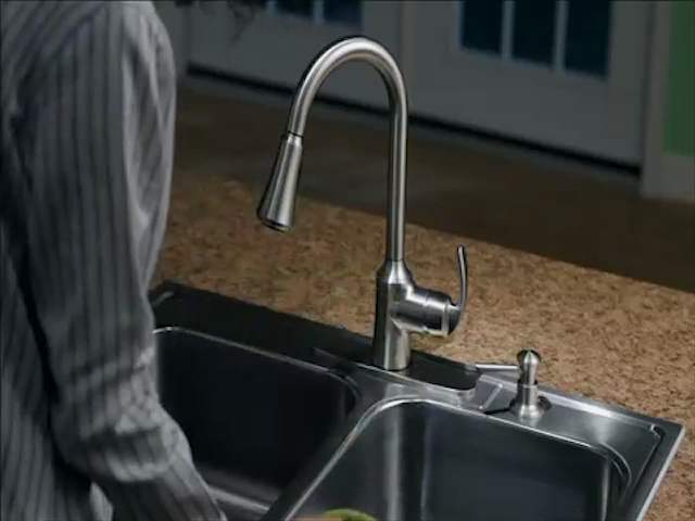 faucet kitchen wholesale towels moen benson one handle pull down with reflex at menards