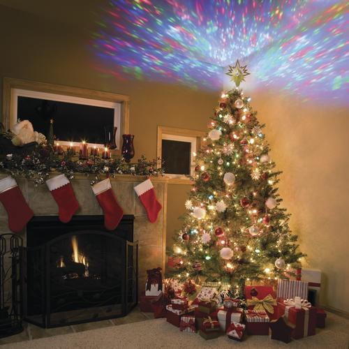 Enchanted Forest Led Projection Tree Topper At Menards
