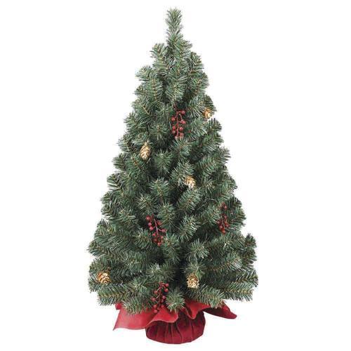 Enchanted Forest 28 Burlap Mini Artificial Christmas