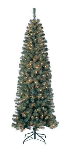 Enchanted Forest 7 Prelit Williams Slim Pine Artificial