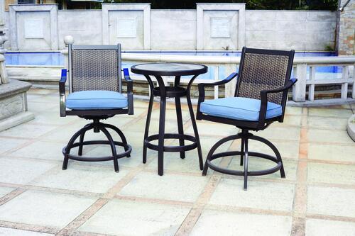 hortford blue 3 piece seating patio set