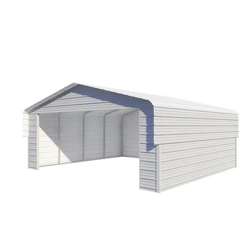 Versatube 20 W X 18 L X 7 5 H Fully Enclosed Steel Shelter