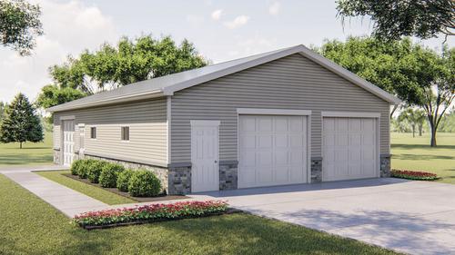 29797 Lakewood Garage Building Plans Only At Menards