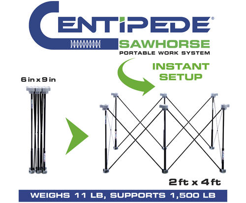 Centipede Support Xl Portable Work System