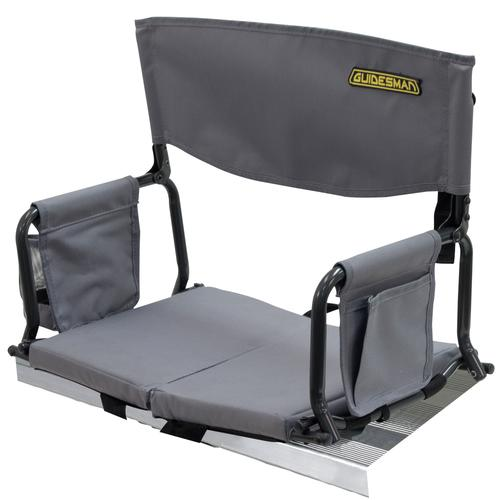 Guidesman Folding Stadium Arm Chair with Cup Holder at