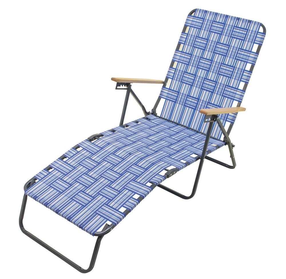 guidesman deluxe blue chaise lounge