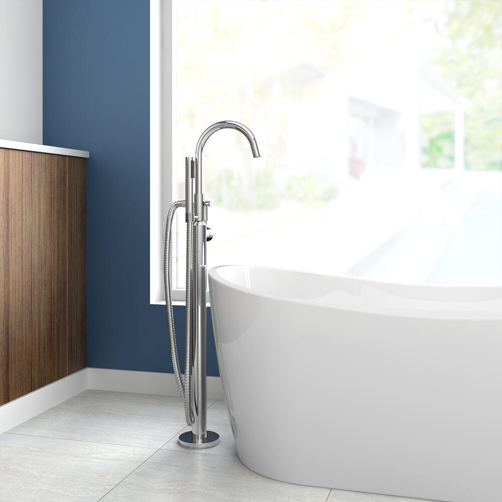one handle freestanding tub faucet with