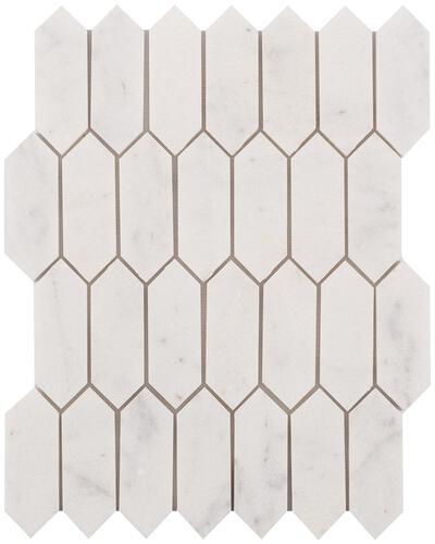 13 picket marble mosaic tile at menards
