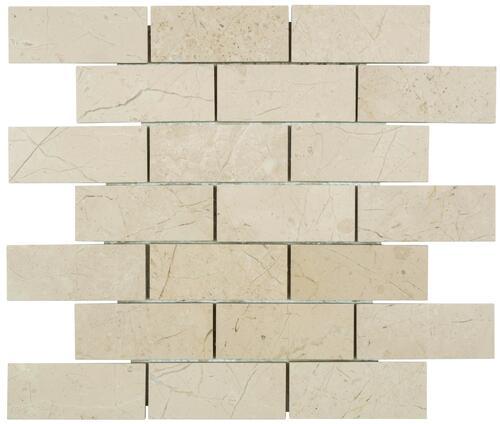 crema marble 12 x 12 stone mosaic tile
