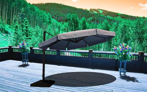 Backyard Creations 11 Offset Patio Umbrella at Menards