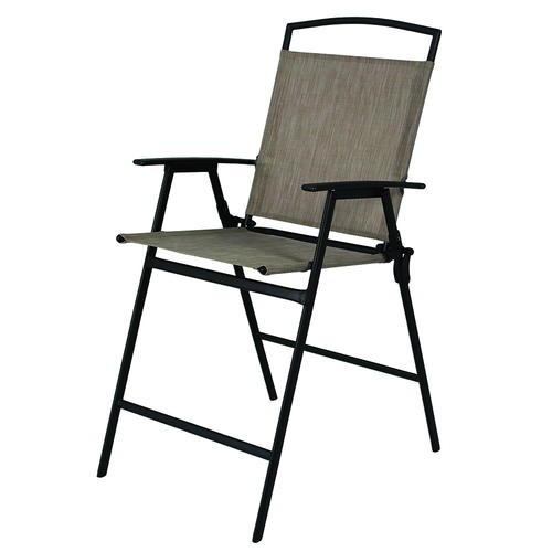 tan balcony folding patio chair at