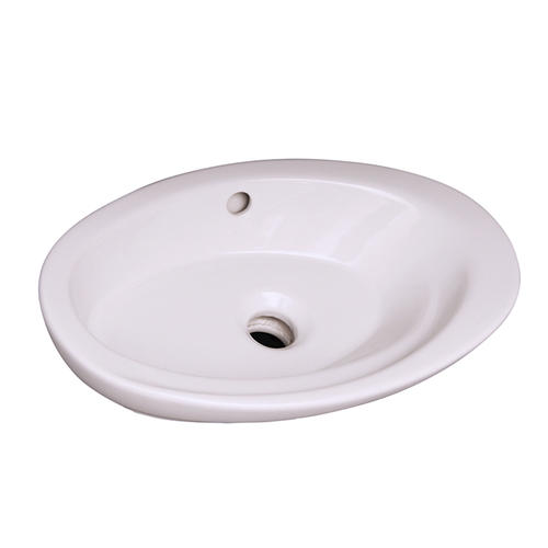 white oval drop in bathroom sink