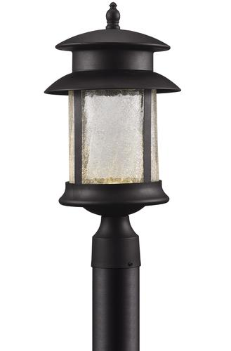 jalissa black led post light at menards