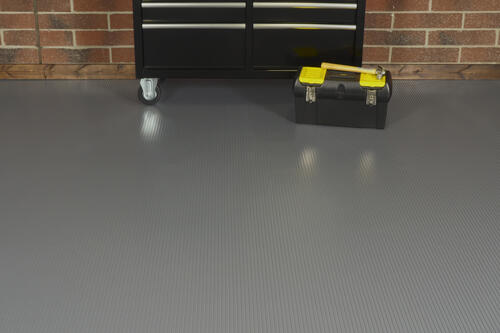 G Floor 7 6 X 17 Ribbed Garage Flooring 127 5 Sq Ft Roll At Menards