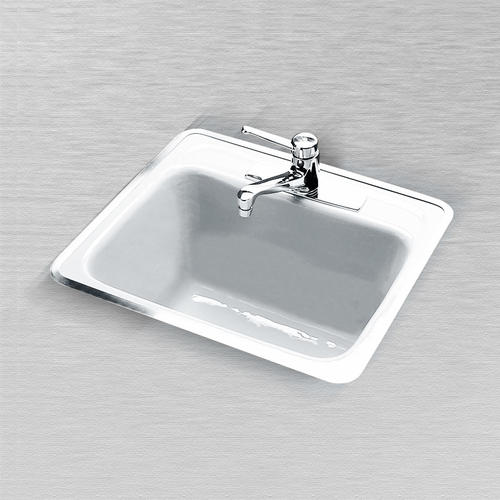 cast iron drop in laundry utility sink