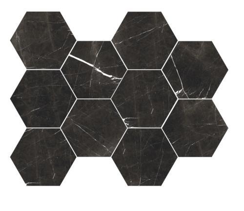 11 hexagon porcelain mosaic tile