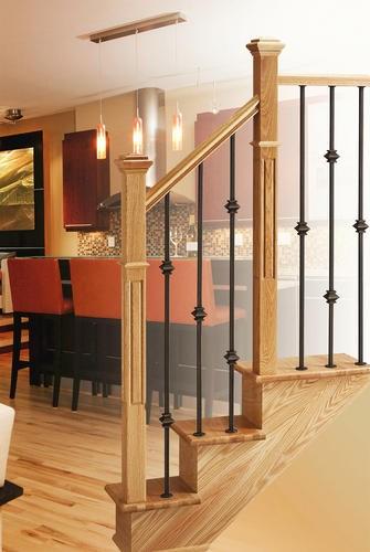 Mastercraft® Black Oak 12 Step Staircase With Stair Treads | Oak Wood Stair Treads | Hardwood Lumber | Risers | Hardwood Flooring | Solid Oak | Return