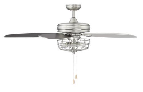 Photon Lighting 52 In. Indoor Brushed Nickel Ceiling Fan
