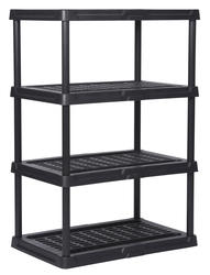 freestanding shelving units at