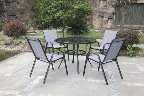 fenton gray 5 piece dining patio set at