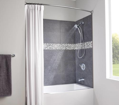 72 tension mount curved shower curtain