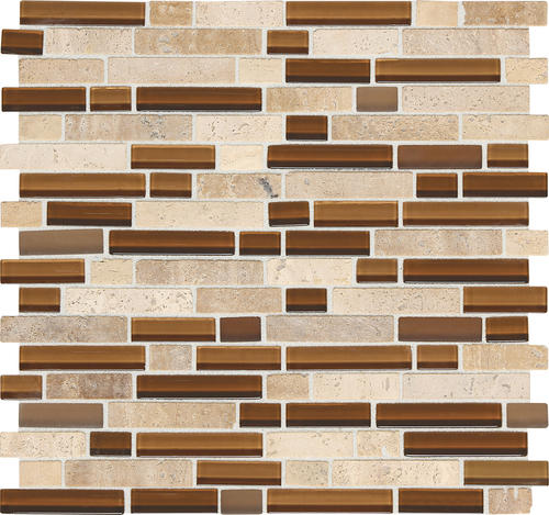 12 glass and stone mosaic tile