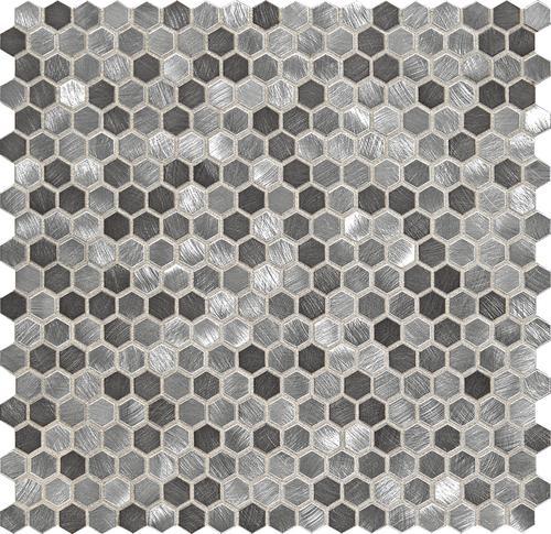 hexagon metal mosaic tile at menards
