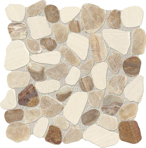 13 flat pebble stone mosaic tile