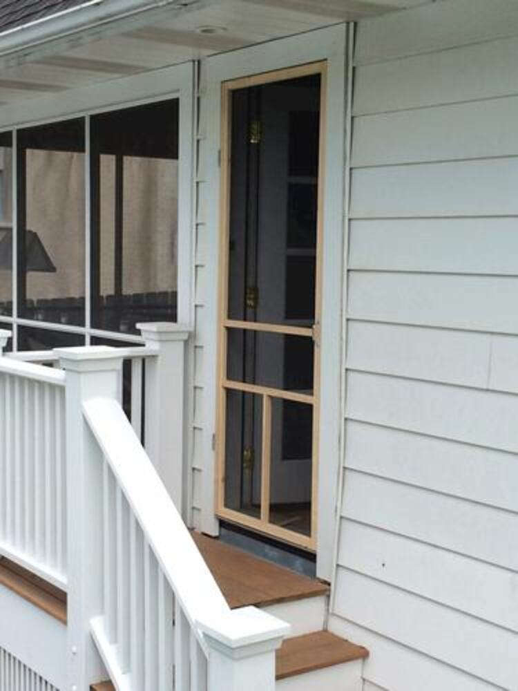 unfinished wood t bar screen door at