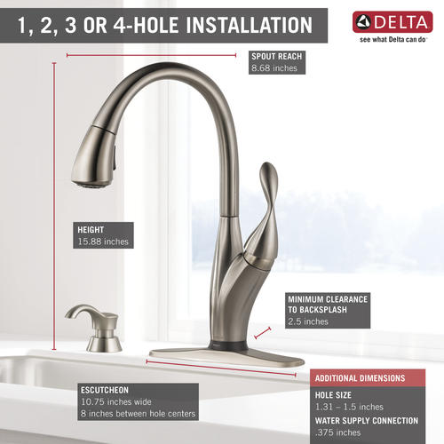 https www menards com main kitchen kitchen faucets delta reg overland trade with touch2o reg and shieldspray reg one handle pull down spotshield reg stainless kitchen faucet 19934tz spsd dst p 1482304809067 htm