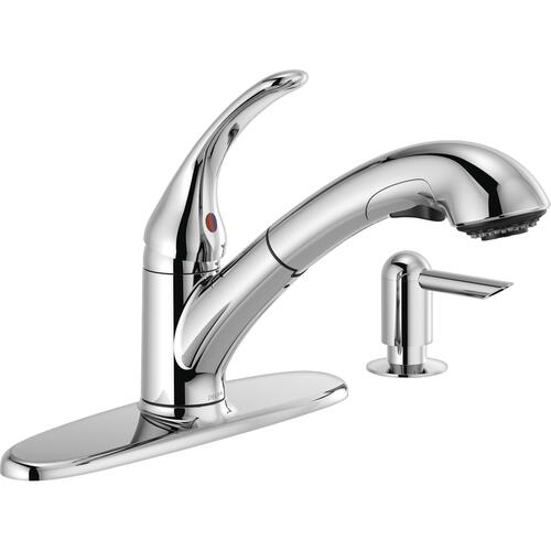 one handle pull out kitchen faucet at
