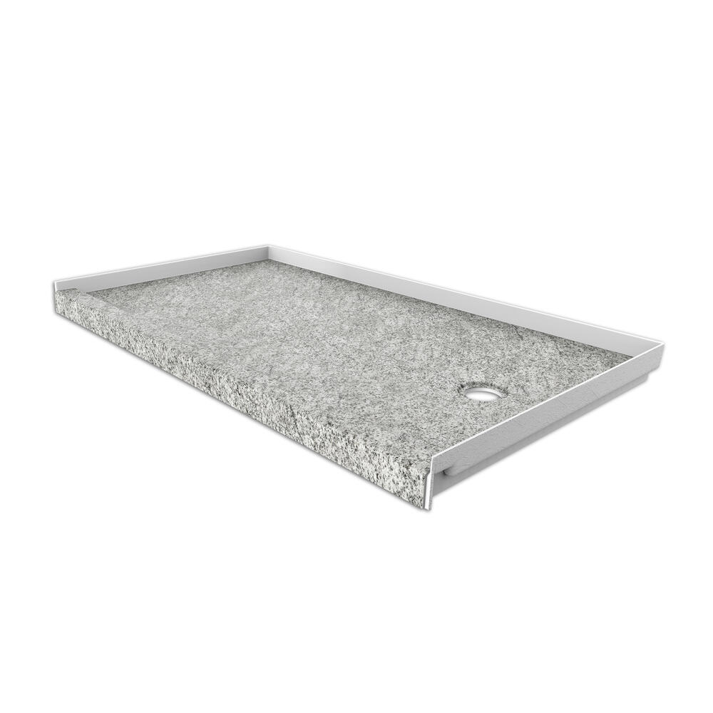 curb shower base with right drain